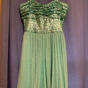 Strapless hoco dress